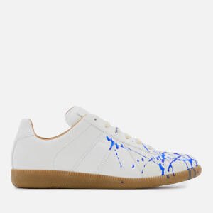 Maison Margiela Men's Painter Monocrome Replica Trainers - White/Klein Blue