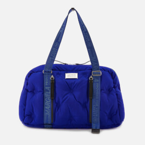 Maison Margiela Men's Quilted Logo Weekend Bag - Amparo Blue