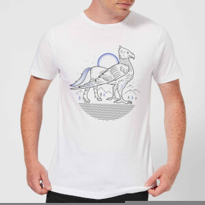 Harry Potter Buckbeak Line Art Men's T-Shirt - White