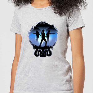 T-Shirt Harry Potter Silhouette Attack - Grigio - Donna
