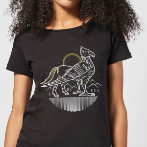 Harry Potter Buckbeak Line Art Damen T-Shirt - Schwarz