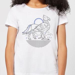 Harry Potter Buckbeak Line Art Women's T-Shirt - White