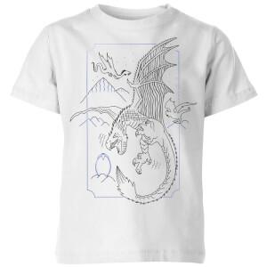 Camiseta Harry Potter Dragón - Niño - Blanco