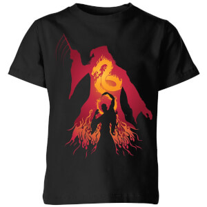 Harry Potter Dumbledore Silhouette Kinder T-shirt - Zwart