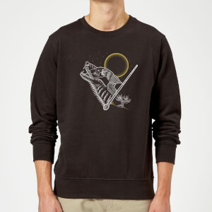 Harry Potter Werewolf Line Art Sweatshirt - Black