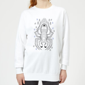 Sweat Femme Dessin au Trait Aragog - Harry Potter - Blanc