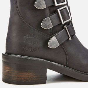 Superdry Women's Cheryl Military Boots - Black: Image 4