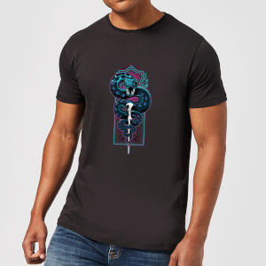 T-Shirt Harry Potter Neon Basilisk - Nero - Uomo