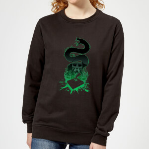 Harry Potter Basilisk Silhouette Women's Sweatshirt - Black
