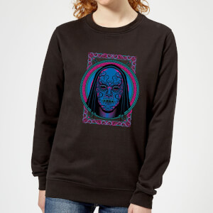 Harry Potter Neon Death Eater Mask Women's Sweatshirt - Black