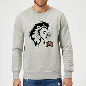 Sweat Homme Tête de Lion et Logo - East Mississippi Community College - Gris