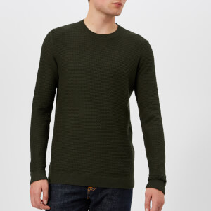 Ted Baker Men's Percypi Crew Neck Knitted Jumper - Green
