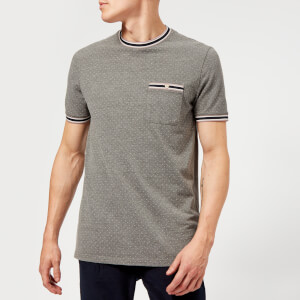 Ted Baker Men's Glaad Pique Mini Spot T-Shirt - Grey Marl