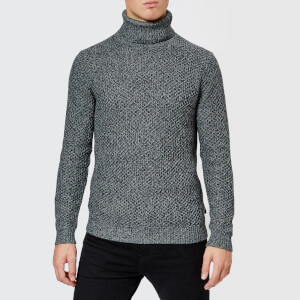 Ted Baker Men's Singo Chunky Roll Neck Knitted Jumper - Charcoal