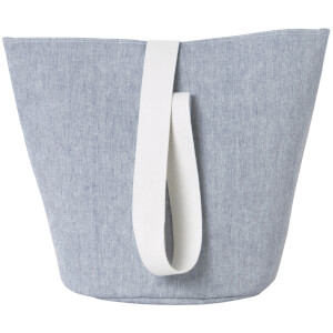Ferm Living Basket with Webbing Strap - Medium - Blue
