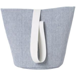 Ferm Living Basket with Webbing Strap - Medium - Blue
