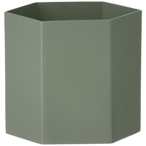 Ferm Living Hexagon Pot - Large - Dusty Green