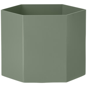 Ferm Living Hexagon Pot - Extra Large - Dusty Green