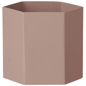 Ferm Living Hexagon Pot - Large - Rose