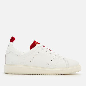 Golden Goose Deluxe Brand Women's Starter Trainers - White/Red Velvet