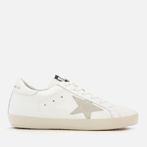 Golden Goose Deluxe Brand Women's Superstar Trainers - White/Gold Lettering