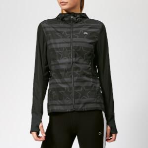 Calvin Klein Performance Women's Wind Print Jacket - Stars Stripe CK Black