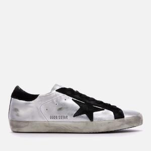 Golden Goose Deluxe Brand Men's Superstar Sneakers - Silver/Black Leather