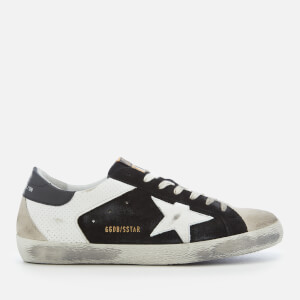 Golden Goose Deluxe Brand Men's Superstar Sneakers - White Spot/Black Suede