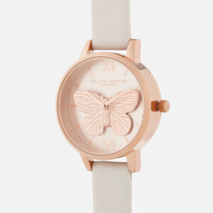 Olivia Burton Women's 3D Butterfly Watch - Blush/Rose Gold: Image 3