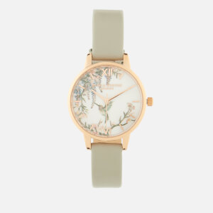 Olivia Burton Women's Painterly Prints Watch - Grey & Rose Gold