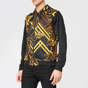 Versace Jeans Men s All Over Print Hoody - Black 7e6a8033fc364