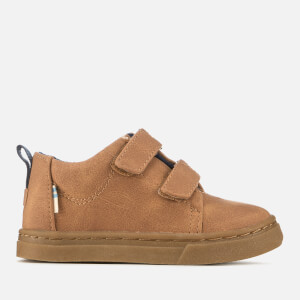 TOMS Toddlers' Lenny Synthetic Suede Mid Trainers - Light Twig