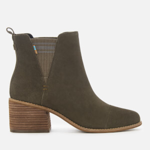 TOMS Women's Esme Suede Heeled Chelsea Boots - Tarmac Olive