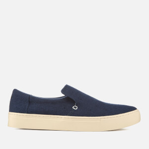 TOMS Men's Lomas Heritage Canvas Slip On Trainers - Navy
