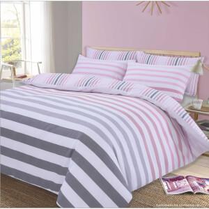 Dreamscene Fade Stripe Duvet Set - Pink