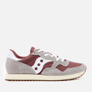 Saucony Men's DXN Vintage Trainers - Grey/Maroon