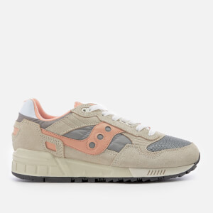 Saucony Women's Shadow 5000 Vintage Trainers - Off-White/Grey/Pink