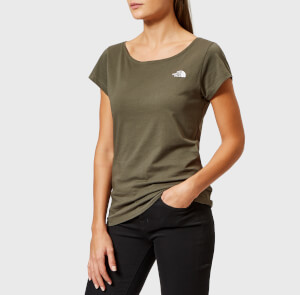 The North Face Women's Redbox Short Sleeve Crew Neck T-Shirt - New Taupe Green