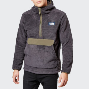 The North Face Men's Campshire Pullover Pile Hooded Fleece - Weathered Black/New Taupe Green