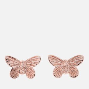 Olivia Burton Women's 3D Butterfly Studs - Rose Gold