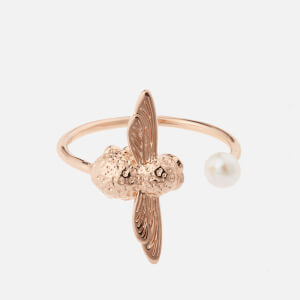 Olivia Burton Women's Pearl Bee Ring - Rose Gold