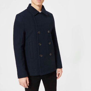 Jack Wills Men's Bickmor Peacoat - Navy