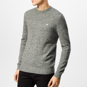 Jack Wills Men's Rye Classic Crew Neck Knit Jumper - Grey Marl