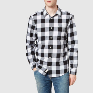 Jack Wills Men's Salcombe Buffalo Check Shirt - Black/White