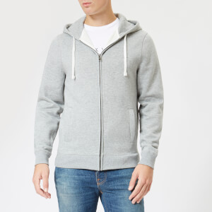Jack Wills Men's Pinebrook Zipped Hoodie - Grey Marl