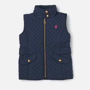 Joules Girls' Jilly Quilted Gilet - French Navy