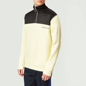 Axel Arigato Men's Half Zip Track Sweatshirt - Pale Yellow
