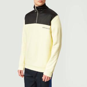 Axel Arigato Men's Half Zip Track Sweatshirt - Pale Yellow