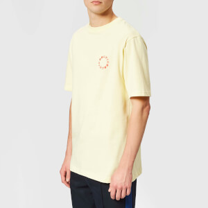 Axel Arigato Men's Japanese Circle Graphic T-Shirt - Pale Yellow