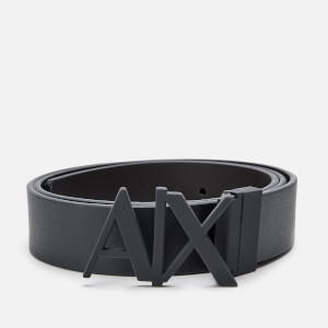 Armani Exchange Men's Leather Belt - Navy/Black